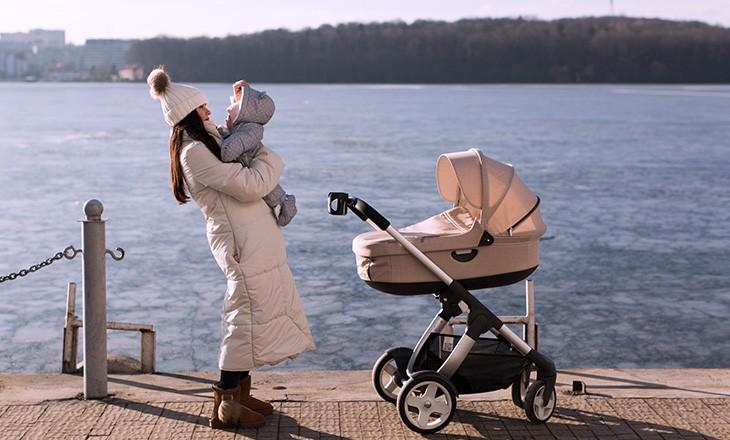 как гулять с младенцем зимой