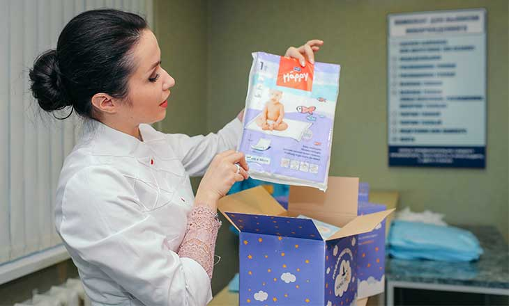 вручение коробок мамапро